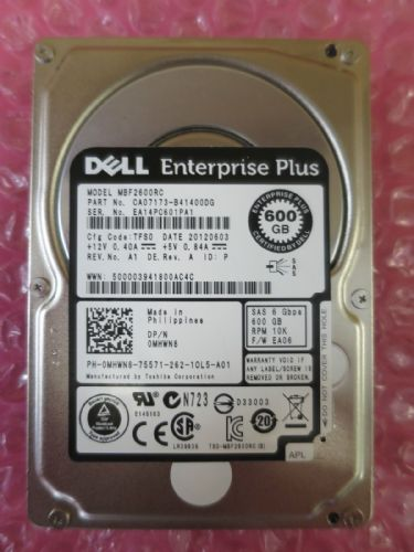 "NEW Dell EqualLogic 2.5"" 600Gb 10k 6Gbps SAS HDD MHWN8 0MHWN8 CA07173-B41400DG"